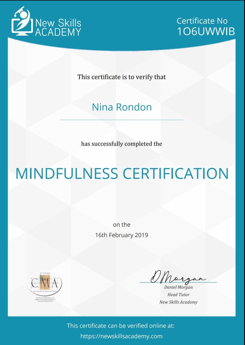 Mindfulness Certification Sparklywartanks